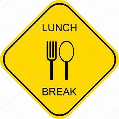 Lunch Break Sign Google Vector Plate Plus