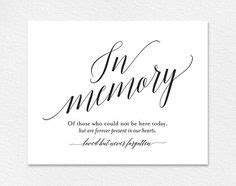 loving memory  print memorial table wedding memorial
