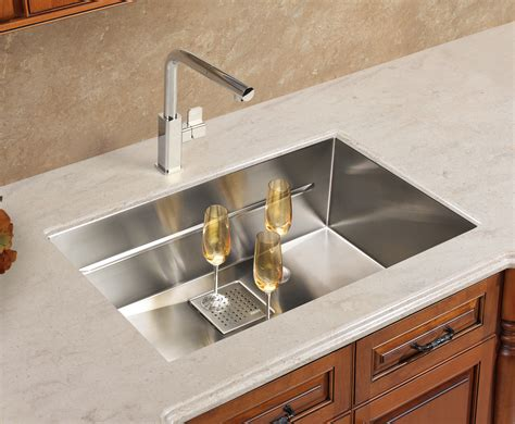 Kitchen Sinks : Splendid Drop In Stainless Steel Kitchen Sink Design