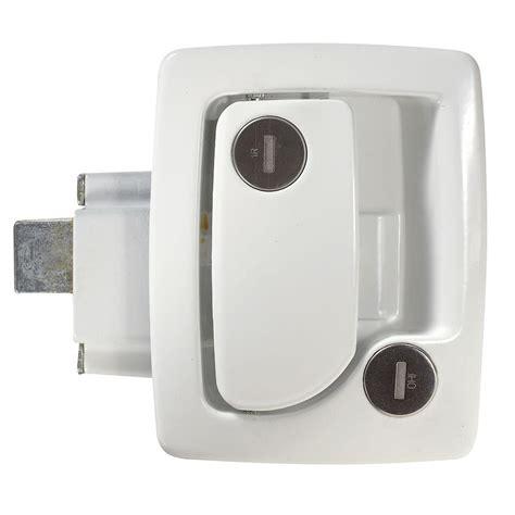 rv door locks travel trailer entrance door locks with deadbolt white