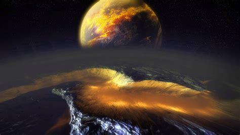 fondo escritorio planeta de fuego