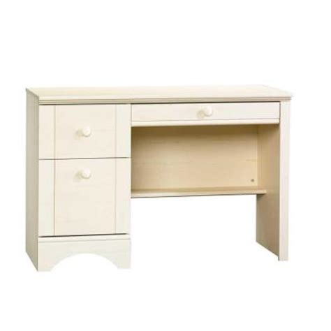sauder harbor view desk white sauder harbor view collection 43 in antiqued white