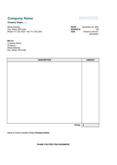 Simple Invoice Template Pdf * Invoice Template Ideas