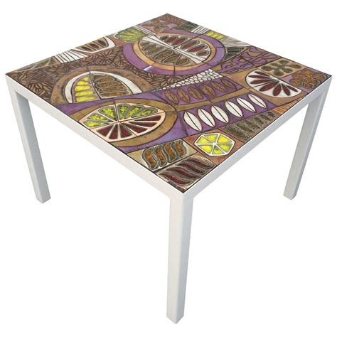 studio ceramic tile top table by brent for sale at