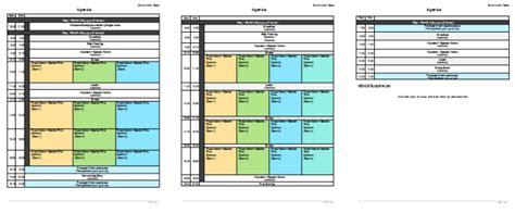 convention planner template meeting planner template organize your agenda meetings