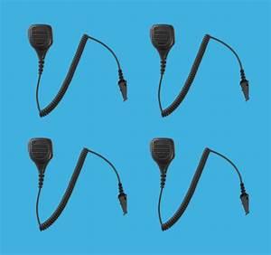 4 Pack Water Resistant Speaker Mic For Kenwood Tk