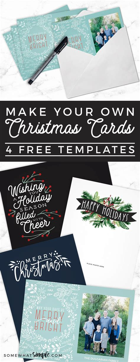 Make Your Own Photo Christmas Cards (for FREE!) - Somewhat