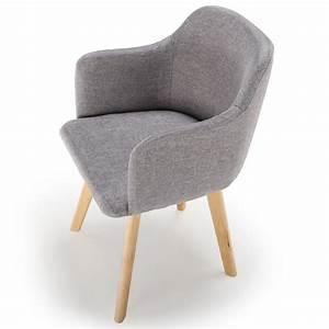Fauteuil Scandinave Tissu : fauteuil scandinave en tissu sweet color 76cm gris ~ Teatrodelosmanantiales.com Idées de Décoration