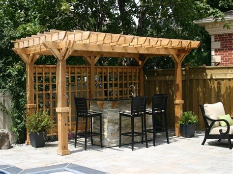 Concrete Backyard, Bar Shed Ideas Small Backyard Bar Ideas