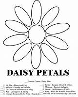 Scout Daisy Coloring Daisies Law Printable Scouts Promise Petals Activities Sheet Activity Printables Crafts Sheets Trefoil Miracle Timeless Word Starklx sketch template