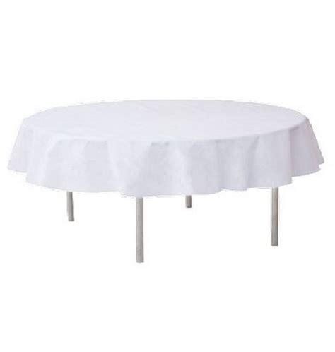 acheter nappe ronde intiss 233 blanche 240cm tables 1001 deco table