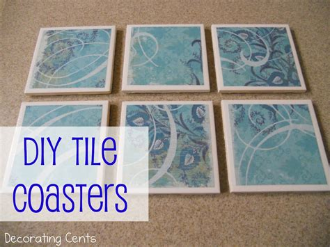 diy coaster decorating cents diy tile coasters