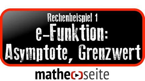 exponentialfunktion asymptote und grenzwert berechnen