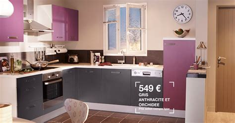 cuisine aubergine lapeyre meuble cuisine violet meuble bas cuisine pas cher but de
