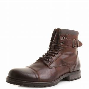 Mens Jack and Jones Albany Brown Stone Fashion Military ...