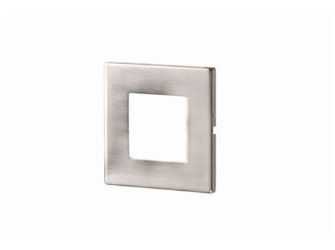 recessed brushed chrome white led square wall light indoor