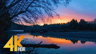 4k Sunrise Nature River Hdr Relax 8k