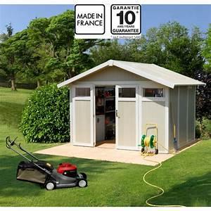Abri De Jardin En Pvc : abri de jardin en pvc 7 53m utility blanc et gris vert ~ Edinachiropracticcenter.com Idées de Décoration