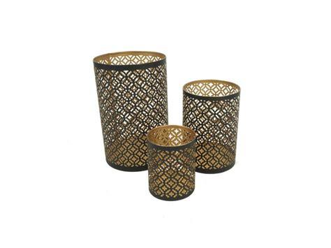 windlicht schwarz metall metall windlicht marokko schwarz gold 183 2047 3