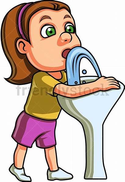 Drinking Fountain Water Clipart Clip Cartoon Drink