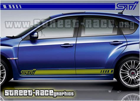 subaru side racing stripes  sti street raceorg