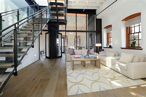 warehouse penthouse loft blends modern  york