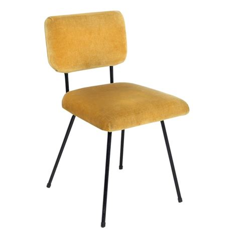 chaise jaune moutarde