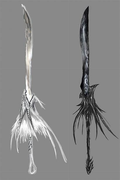 Twin Deviantart Weapons Dragons Fantasy Swords Anime