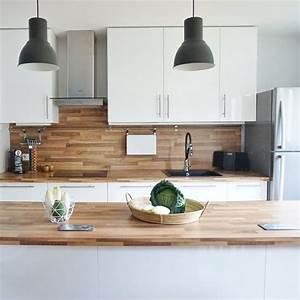 Deco Bois Et Blanc : cuisine blanc et bois id es d co c t maison ~ Melissatoandfro.com Idées de Décoration