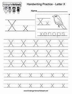 Letter X Writing Practice Worksheet - Free Kindergarten ...