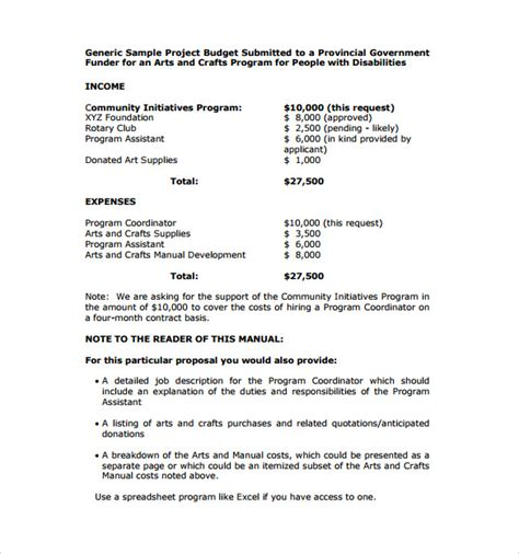 business plan templates for art programs 8 sle program proposal templates to download sle