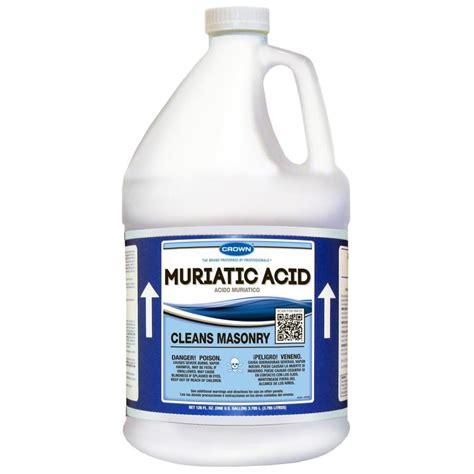 muriatic acid shop crown 1 gallon muriatic acid at lowes com