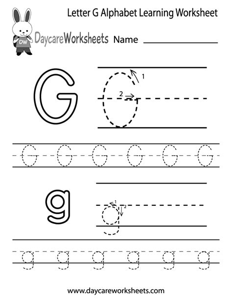 letter  alphabet learning worksheet  preschool