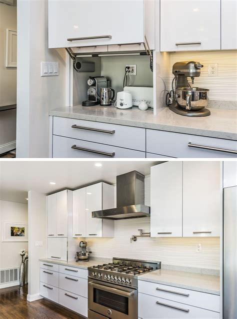 kitchen design idea store your kitchen appliances in an appliance garage contemporist