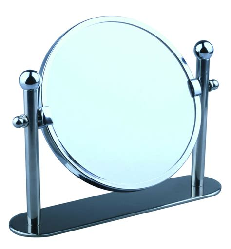 swivel chrome magnifying  standing pedestal cosmetic