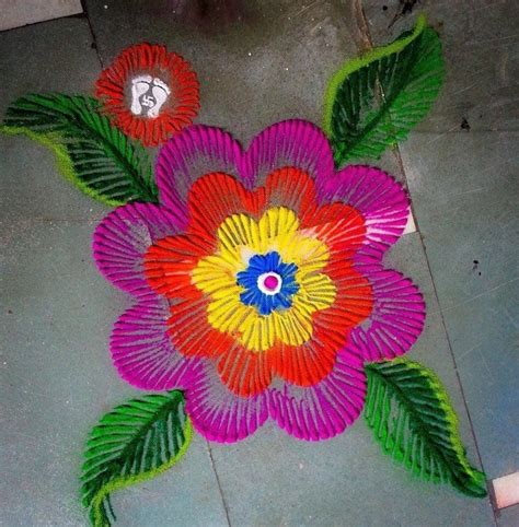 rangoli  finger art simple craft ideas