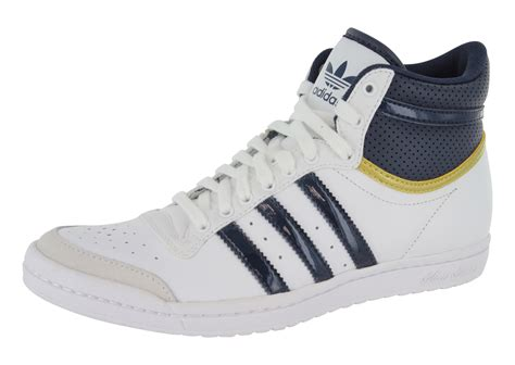 adidas baskets montante top ten hi sleek blanche femme