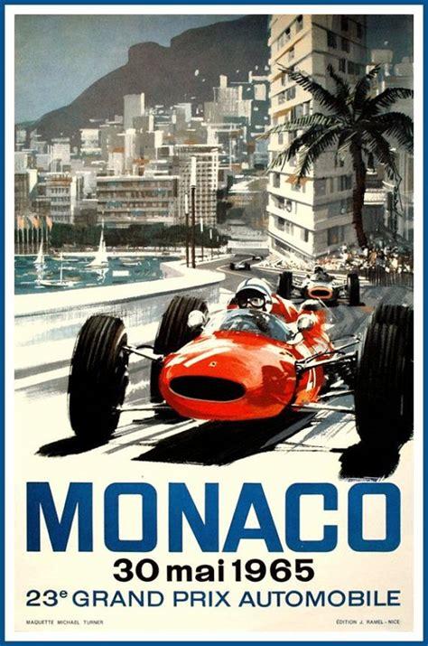 Un concept en béton pour une affiche publicitaire pertinente ! Monaco Grand Prix 1965 Ferrari Print by BloominLuvly on Etsy   Grand prix de monaco, Affiche ...
