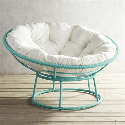 outdoor peacock blue papasan chair frame everything