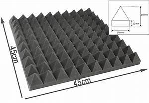 Mousse Isolation Acoustique : mousse acoustique pyramidale 45 45 6cm quipement de studio isolation phonique ebay ~ Melissatoandfro.com Idées de Décoration