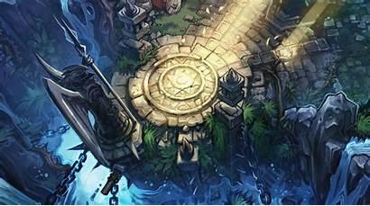 League Legends Rift Summoners Lol Base Map