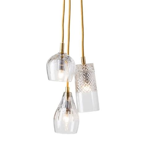 3 light cascade pendant crystal 3 light ceiling pendant cluster hanging on long