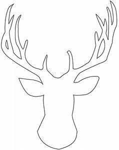 Stag outline. | Silhouette | Pinterest