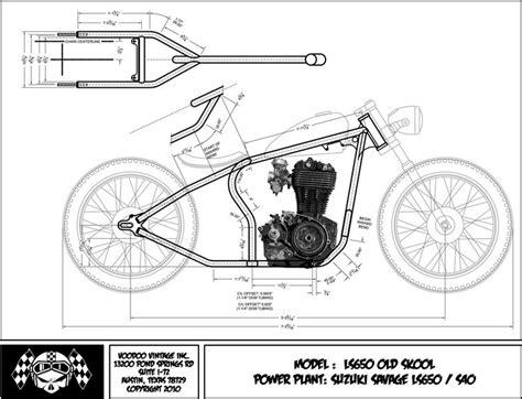 Suzuki Savage Chopper Blueprint Voodoo Classics