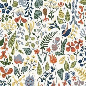 borastapeter scandinavian designer wallpaper herbarium by With balkon teppich mit tapeten retro style