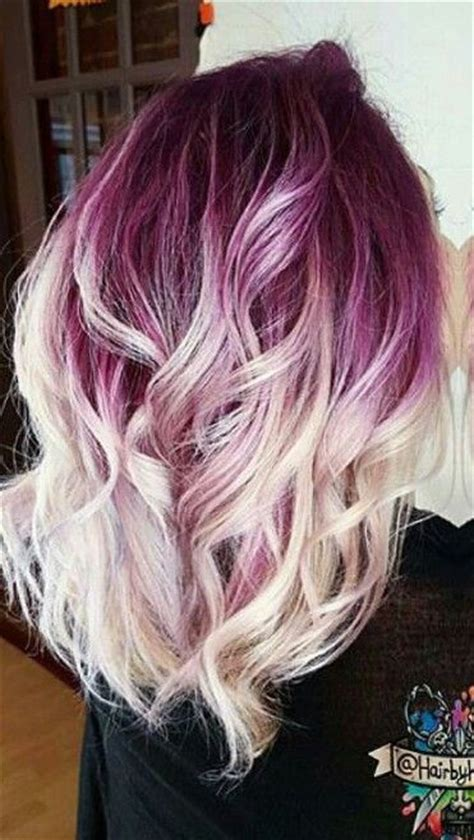 purple blonde ombre dyed hair color athairbykaseyoh hair