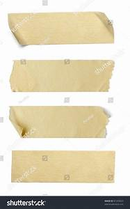 Collection Of Various Adhesive Tape Pieces On White ...