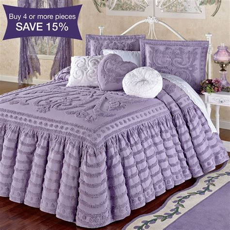 white chenille rug intrigue chenille ruffled flounce oversized bedspread bedding