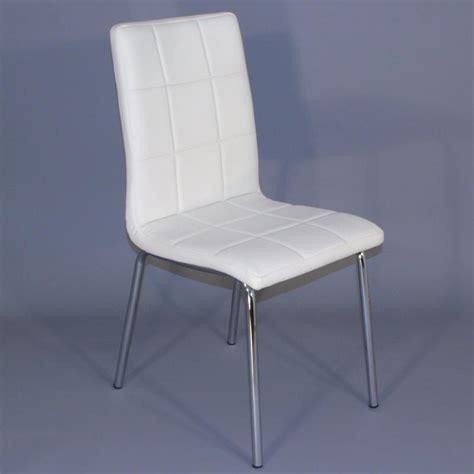 chaise blanche simili cuir chaises pour salles à manger comparez les prix pour