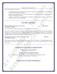 esl resume esl resume sle page 2